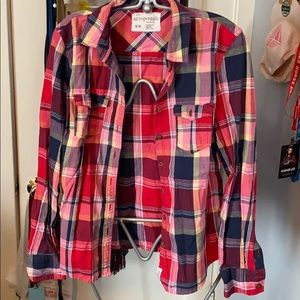 RedBluYel Plaid Cowgirl Aéropostale Button Front